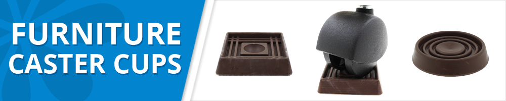 brown rubber furniture caster cups